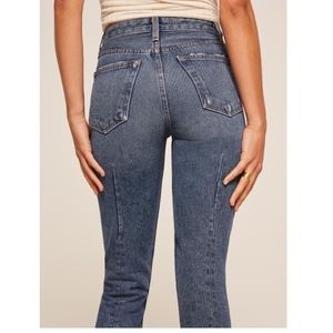 Reformation Skinny French Button Fly Jeans Baltic